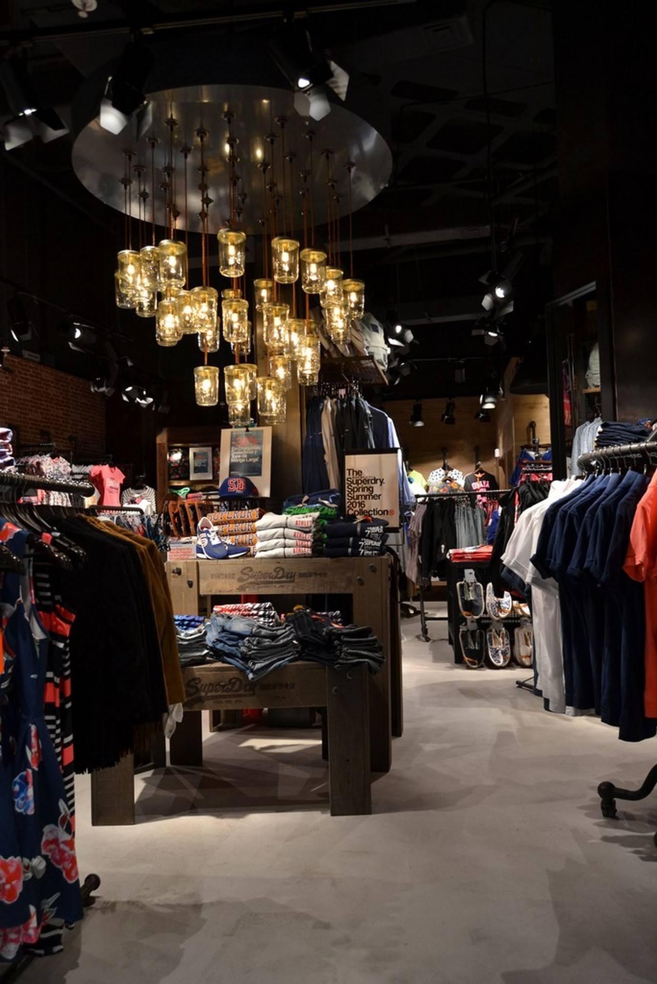 Microcemento en tiendas de ropa