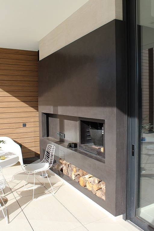 microcement in outdoors