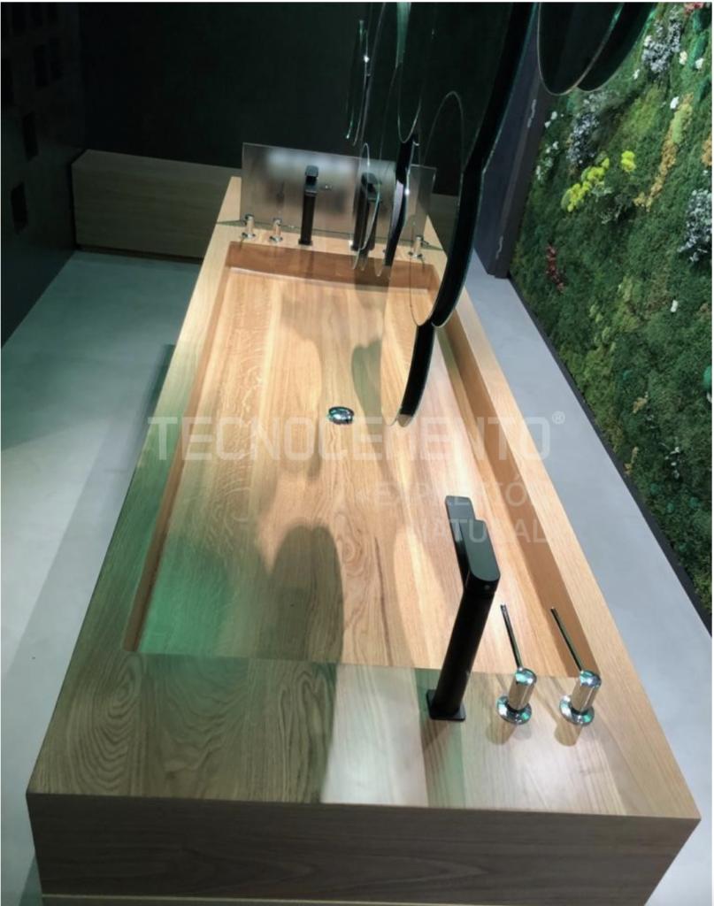 madera y microcemento